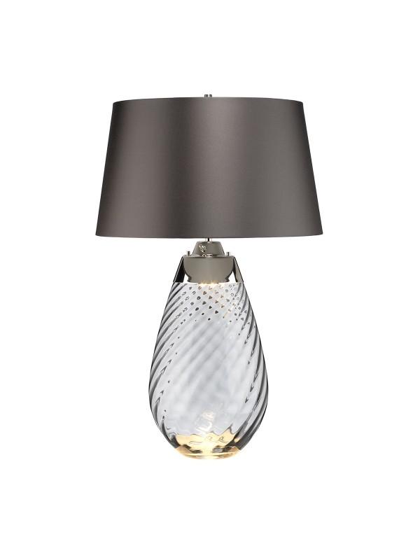 LENA LARGE lampa stołowa z podświetlaną szklana podstawą - Elstead