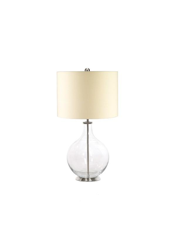 Atrakcyjna lampa stołowa Orb Clear - Elstead Lighting
