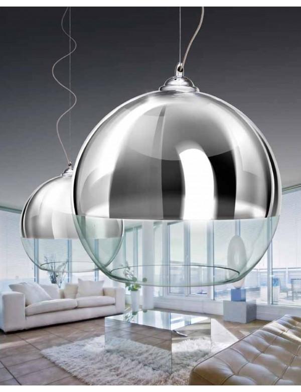 Nieprzeciętna lampa wisząca SILVER BALL 18 - Azzardo