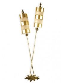 Elegancka oprawa stojąca Nettle Luxe Złoty - Flambeau