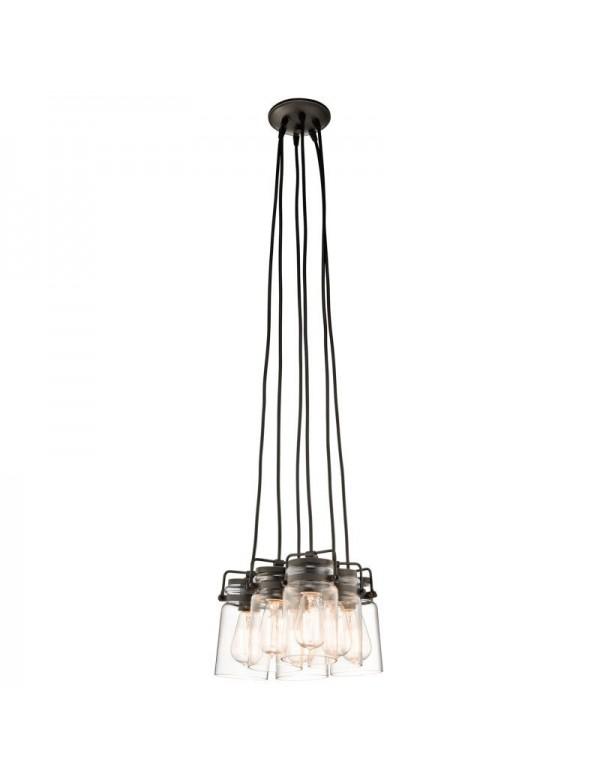 KL/BRINLEY6 ciekawa kompozycja amerykańskiej lampy wiszącej - Kichler