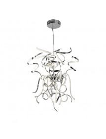 WEED L LED LW - Duża lampa wisząca Sompex do salonu