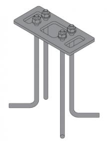 Kotwa K1907 do mocowania słupków w betonie słupków Molde - Norlys