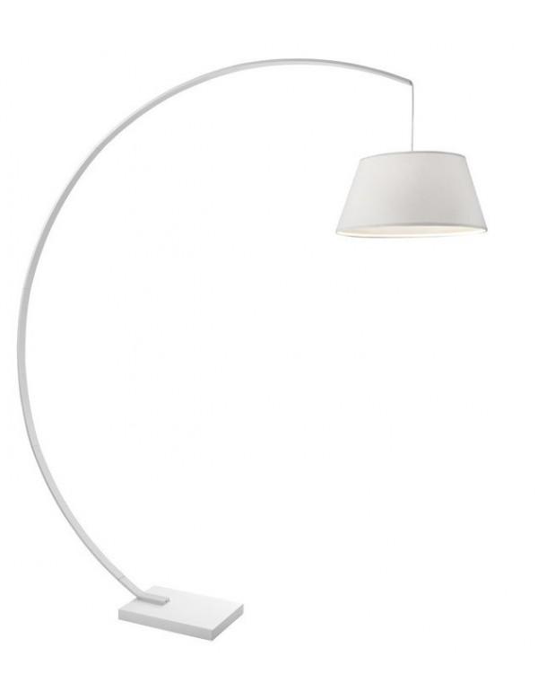 ARC lampa podłogowa z białym lub czarnym abażurem - Sompex