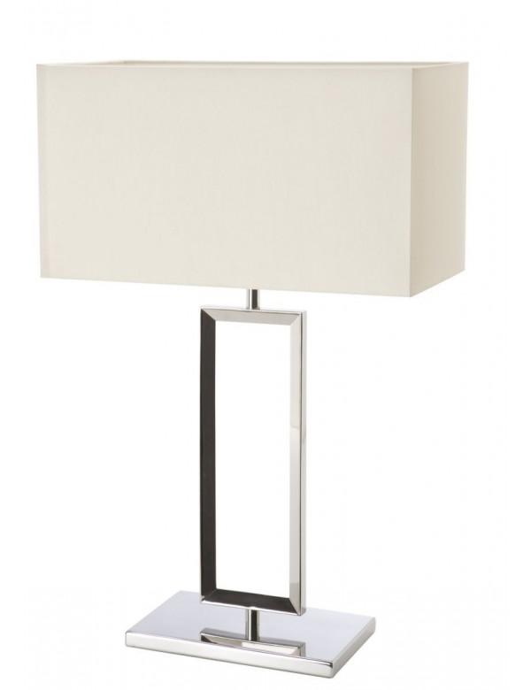 PAD M polerowana stal z kremowym abażurem - lampa na stół - Sompex