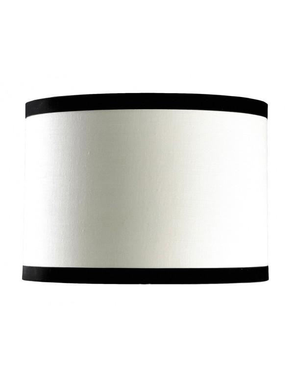 Biały abażur z czarnymi paskami LS1003 - Lui's Collection