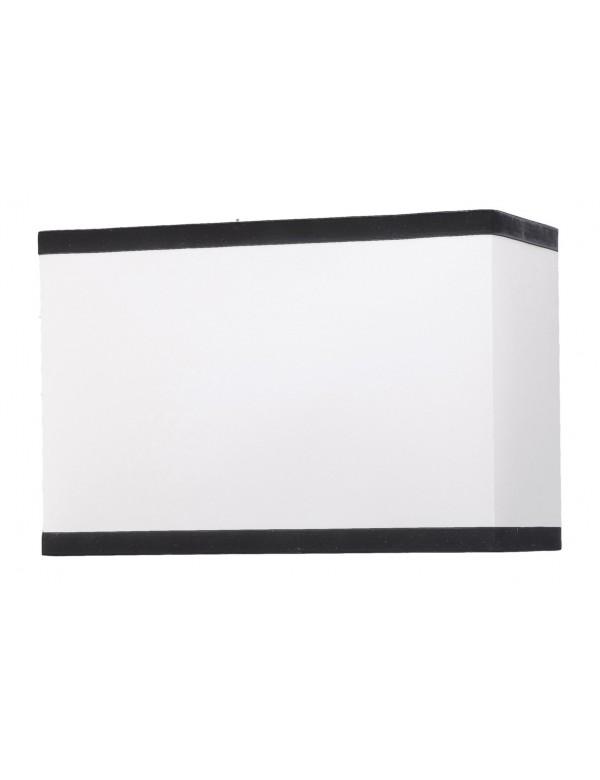 Prostokątny biały abażur z czarnymi obwódkami LS1021 - Lui's Collection