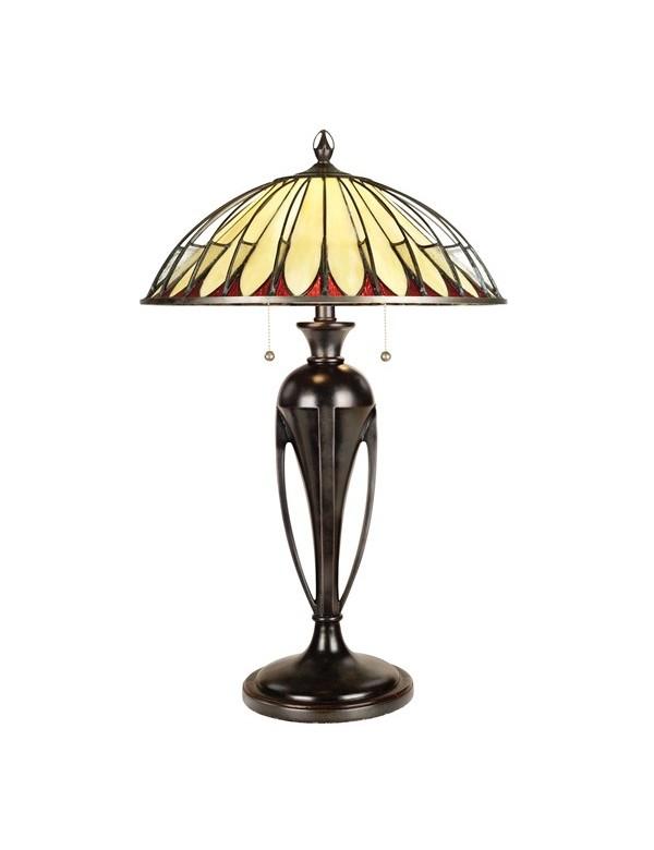 ALAHAMBRE/TL witrażowa lampa stołowa w stylu Tiffany - Quoizel