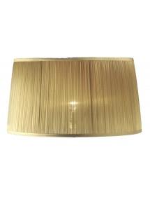 Unikalny szyfonowy abażur w złotym kolorze LS1033 - Lui's Collection