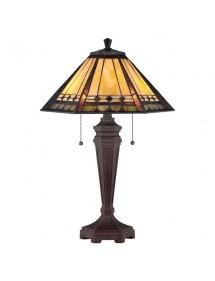 Tiffany lampy witrażowa stołowa ARDEN - Quoizel