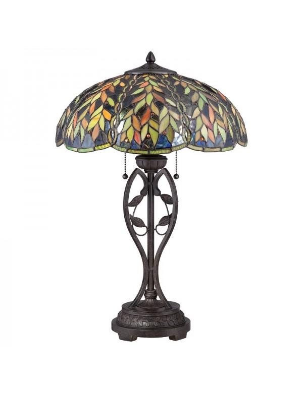 Lampa stołowa z motywem liści QZ/BELLE/TL - Quoizel
