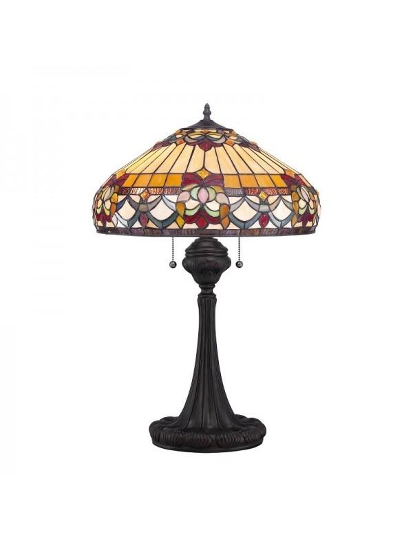 Dekoracyjna lampa witrażowa na stolik nocny BELLEFLEUR LS - Quoizel