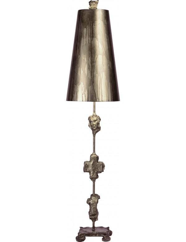 Elegancka lampa na stoliczek nocny Fragment Silver - Flambeau