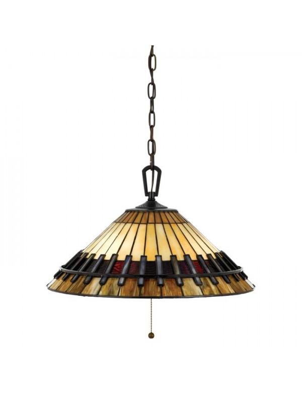 QZ/CHASTAIN/P wisząca lampa witrażowa w kształcie stożka - Quoizel
