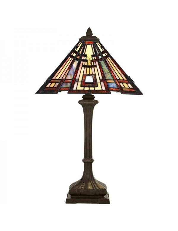 Witrażowa lampa stołowa CLASSIC CRAFTSMAN - Quoizel