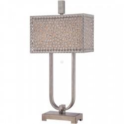 CONFETTI DESK LAMP stylowa srebrna lampa stołowa - Quoizel