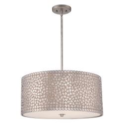 CONFETTI L Quoziel - duża lampa do salonu z mozaikowym kloszem