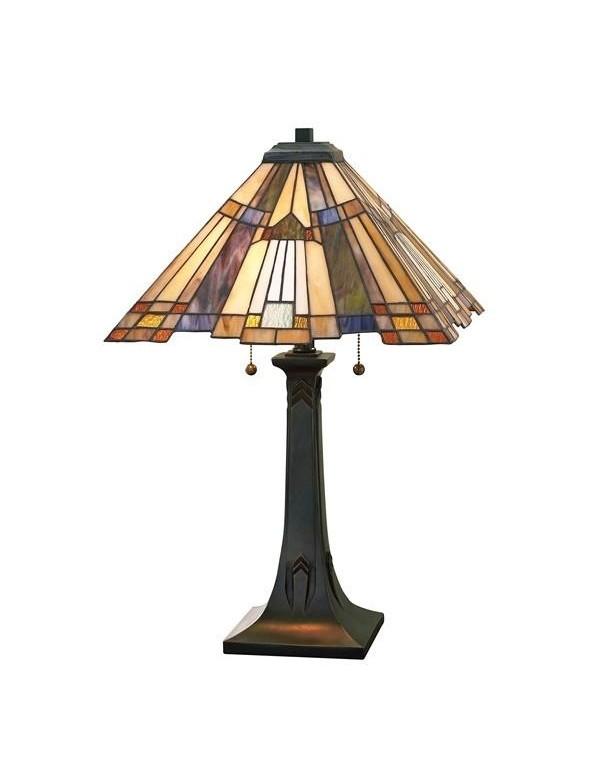 INGLENOOK LS lampa stołowa z postrzępionym kloszem - Quoizel