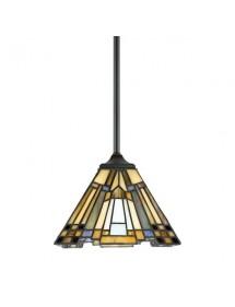 INGLENOOK LW1 mała lampa witrażowa na sztywnym zwieszeniu - Quoizel