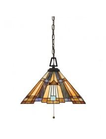 Witrażowa lampa wisząca na łańcuchu INGLENOOK LW2 - Quoizel