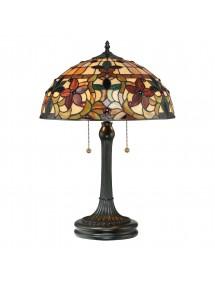 KAMI LS lampa witrażowa z rubinowymi kulkami - Quoizel