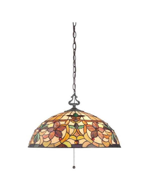 KAMI LW lampa witrażowa na stylowym łańcuchu  - Quoizel