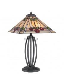 RUBY LS luksusowa witrażowa lampa stołowa - styl Tiffany - Quoizel