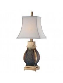 Lampa stołowa SARATOGA LS ze szklaną nakrapianą podstawą - Quoizel