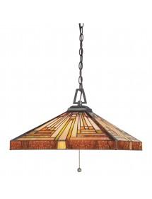 STEPHEN LW2 witrażowa lampa wisząca na łańcuchu  - Quoizel
