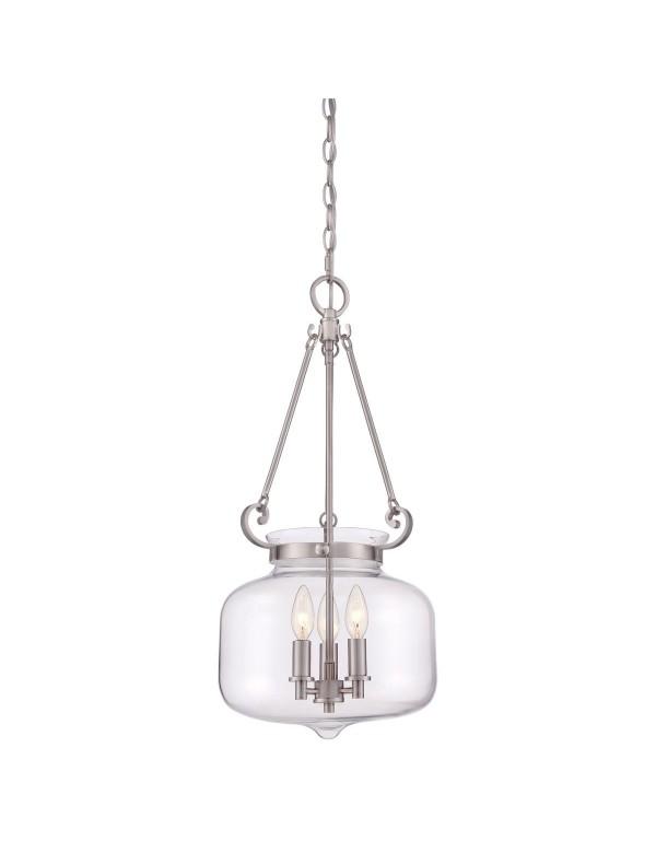 STEWART LW lampa wisząca o szklanym, przejrzystym kloszu - Quoizel