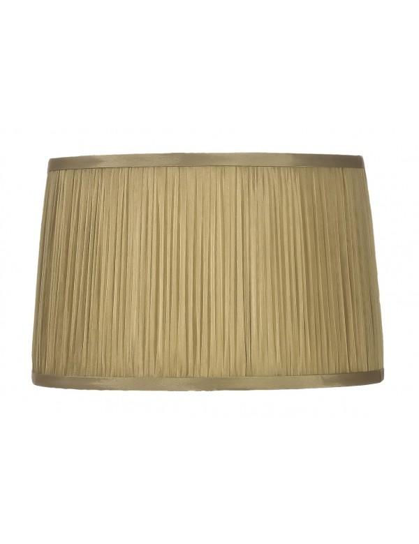 LS1116 (36cm) złoty abażur z przewiewnej szyfonowej tkaniny - Lui's Collection