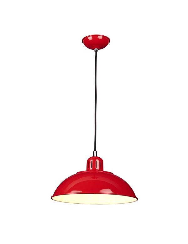 Lampa wisząca w stylu retro FRANKLIN/P z metalowym kloszem - Elstead