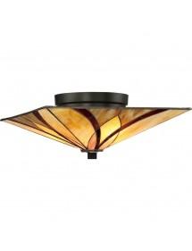 Niski plafon sufitowy ASHEVILLE F lampa witrażowa - Quoizel