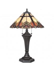 QZ/CAMBRIDGE/TL witrażowa lampa stołowa w pastelowych barwach - Quoizel