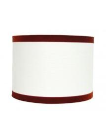 Biały abażur z czerwonym wykończeniem LS1139 (36cm) - Lui's Collection