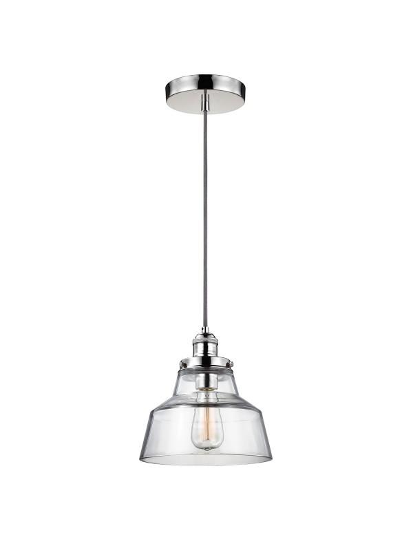 FE/BASKIN/P/A szklana lampa wisząca na długim zwieszeniu - Feiss