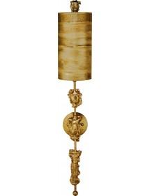 Zjawiskowy kinkiet Fragment Złoty - Flambeau