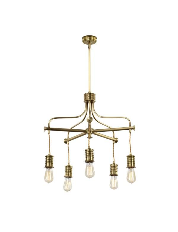 DOUILLE5 wisząca lampa z pięcioma prostymi oprawkami - Elstead Lighting