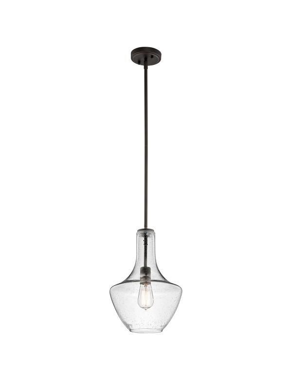 KL/EVERLY/P/S wisząca lampa ze szklanym, dekoracyjnym kloszem - Kichler