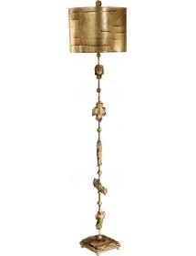 Urokliwa lampa stojąca Fragment Gold - Flambeau
