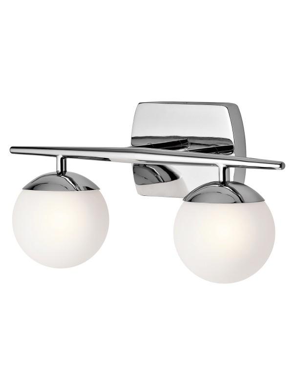 KL/JASPER2 BATH dwie szklane kule w kinkiecie łazienkowym - Kichler