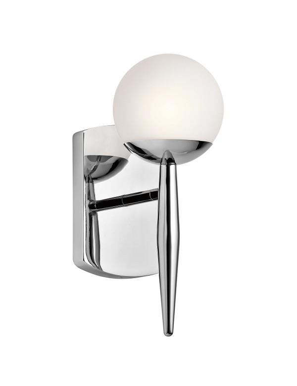 KL/JASPER1 BATH kinkiet łazienkowy z kloszem w kształcie kuli - Kichler
