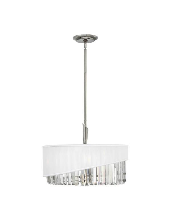 HK/GIGI/3P lampa wisząca z kryształowym kloszem pokrytym organzą - Hinkley