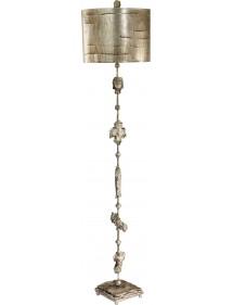 Atrakcyjna oprawa podłogowa Fragment Silver - Flambeau