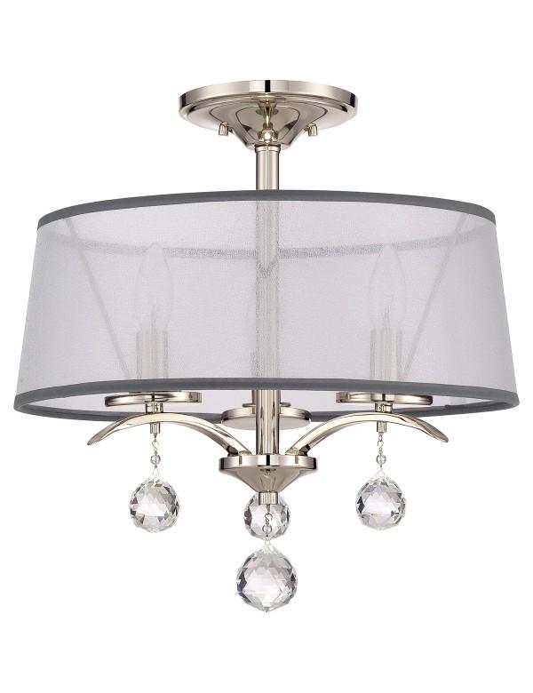 QZ/WHITNEY/SF lampa wisząca / plafon z przeźroczystym abażurem - Quoizel