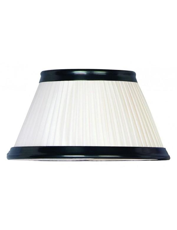 Biały abażur LS164 z czarną lamówką - Elstead Lighting