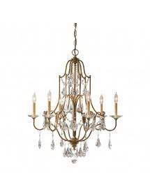 FE/VALENTINA6 luksusowy żyrandol z sześcioma ramionami - Feiss