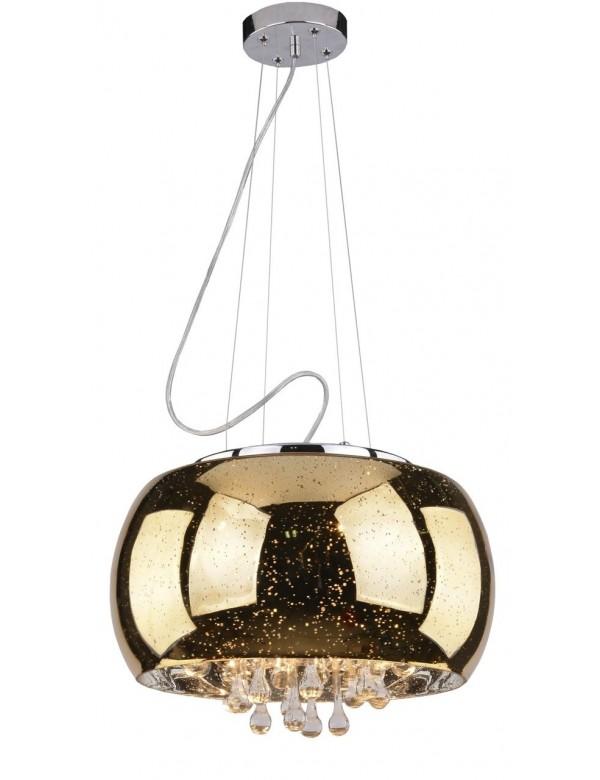 ASTRAL złota lampa wisząca lub plafon z kryształkami - Azzardo