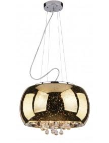 ASTRAL ekskluzywna złota lampa wisząca kryształkami - Azzardo