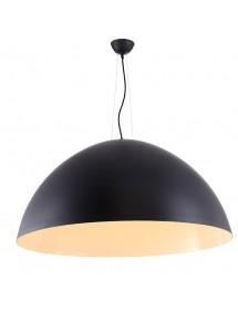 Czarna lampa wisząca z białym wnętrzem MAGMA 90 - Azzardo